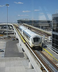 The AirTrain at JFK International Airport in Jamaica, Queens