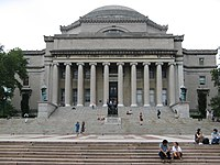 Low Library, the Neoclassical centerpiece of the Columbia University campus