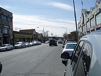 Bergen County (버겐 카운티), New Jersey, is home to [[List of U.S. cities with significant Korean-American populations#Top ten municipalities as ranked by Korean-American percentage of overall population in 2010|all of the nation's top ten municipalities by percentage of Korean population]], led by Palisades Park (벼랑 공원) (above), a borough where Koreans comprise the majority (52%) of the population.