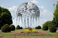 The Unisphere in Flushing Meadows – Corona Park, iconic of Queens, the most ethnically diverse U.S. county and a borough of New York.