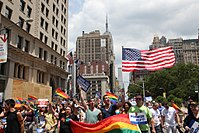 The New York metropolitan area is home to the largest gay and bisexual community in the United States and one of the world's largest.
