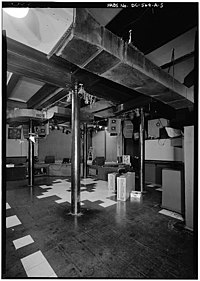 The interior of the original Nightclub 9:30 in 1990. The stage is visible in the background.