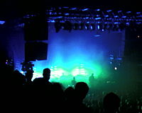 A view from the balcony during the Massive Attack show on September 29, 2006.