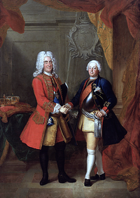 Augustus II of Poland (left) and Frederick William I of Prussia (right)