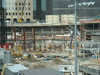 One World Trade Center tower construction as of August 7, 2007