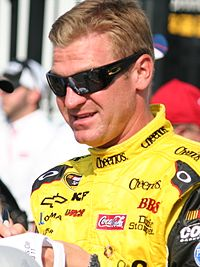 Clint Bowyer, shown here before the Coca-Cola 600, claimed his only victory of the season in the Good Sam Club 500 at Talladega.