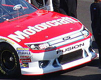 The new front end (shown here on Trevor Bayne's car prior to the 2011 Daytona 500 at Daytona International Speedway) that was being used during the season.