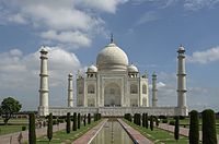 The Taj Mahal in Agra is widely considered to be the best example of Indo-Islamic architecture and is one of the most well-known monuments in the world.