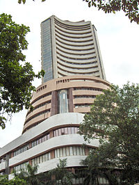 Phiroze Jeejeebhoy Towers, location of the Bombay Stock Exchange is an example of 1980s Indian architecture.