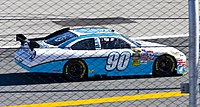 Casey Mears in the No. 90 at Daytona International Speedway in 2010