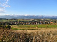 Hybe in Slovakia with Western Tatra mountains in background
