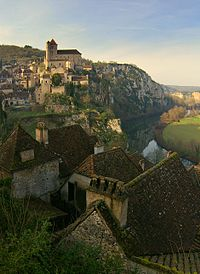"""Saint-Cirq-Lapopie in Lot is one of """"The Most Beautiful Villages in France""""."""
