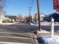 The intersection of E Street & 10th Avenue in Belmar, New Jersey