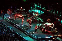 The E Street Band in performance in November 2007 during Magic Tour; this was the next-to-last full performance of Danny Federici.