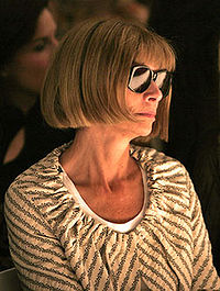 Wintour in sunglasses at a 2005 show