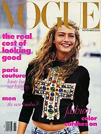 Wintour's first US Vogue cover