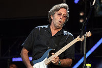 Eric Clapton performing at Hyde Park, London, in June 2008