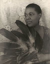 Bessie Smith, an early blues singer, known for her powerful voice