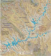 Map of Lake Powell and the Glen Canyon NRA