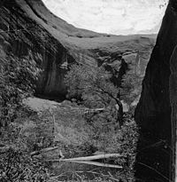 Near Music Temple in Glen Canyon during the 1870s