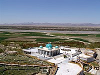 The mausoleum of Baba Wali Kandhari next to the Arghandab Valley, in the northern outskirts of the city.