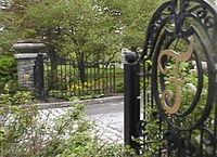 The main entrance to Ferncliff Cemetery, where Aaliyah is interred