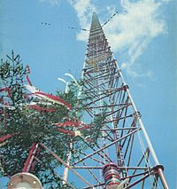 Warsaw radio mast, the height record holder from 1974 to 1991