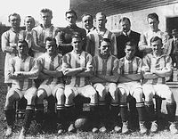 The first Leeds United team at the start of the 1920–21 season