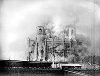 The Cathedral of Christ the Saviour in Moscow during its demolition in 1931