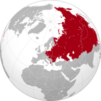 Map showing greatest territorial extent of the Soviet Union and the states that it dominated politically, economically and militarily in 1960, after the Cuban Revolution of 1959 but before the official Sino-Soviet split of 1961