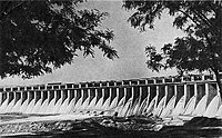 The DneproGES, one of many hydroelectric power stations in the Soviet Union