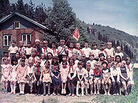 Young Pioneers at a Young Pioneer camp in Kazakh SSR
