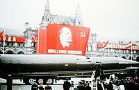 Military parade on the Red Square in Moscow, November 7, 1964