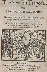 Title page of The Spanish Tragedy by Thomas Kyd