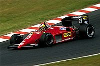 Michele Alboreto was Alain Prost's main challenger for the Championship in