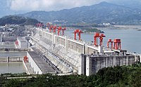 The Three Gorges Dam is the largest hydroelectric dam in the world.