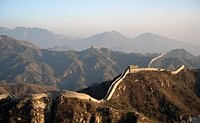 China's first emperor, Qin Shi Huang, is famed for having united the Warring States' walls to form the Great Wall of China. Most of the present structure, however, dates to the Ming dynasty.
