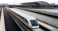 The fastest train service measured by peak operational speed is the Shanghai Maglev Train which can reach 431 km/h.