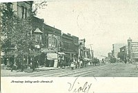 Broadway, looking north, about 1908