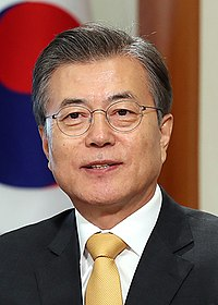President Moon Jae-in is the most recent person to have opened a Winter Olympics in Pyeongchang in 2018