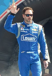 Jimmie Johnson, seen here at the 2015 Daytona 500, scored his 75th victory at Texas.