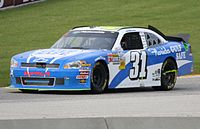 Allgaier in the Road America race in 2011, which he nearly won