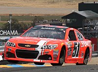 Allgaier racing at Sonoma Raceway in 2015