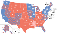 Final polling averages for the 2016 election by state. Polls from lightly shaded states are older than September 1, 2016.