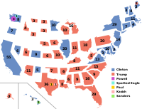 A discontinuous cartogram of the 2016 United States presidential election