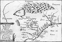 Later map of French Florida