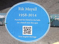 Unofficial blue plaque to Mayall in Hammersmith, London