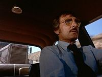 David Mann (Dennis Weaver) being chased by the truck