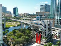 The Riverwalk Station in Downtown Miami is on the Metromover's Brickell Loop.