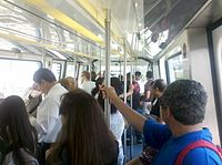 Metromover is a popular way of getting around the Downtown area. It connects the area's neighborhoods and can get very busy during rush hour.